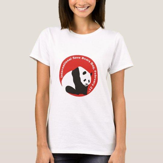 International Save Bears Day PANDA T-Shirt