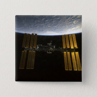 International Space Station 10 15 Cm Square Badge
