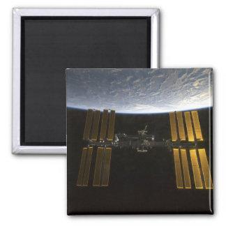 International Space Station 10 Square Magnet