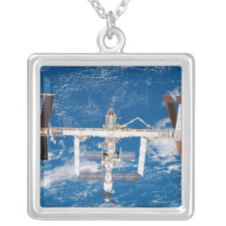 International Space Station 17 Silver Plated Necklace