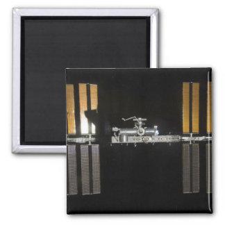 International Space Station 2 Square Magnet
