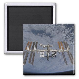 International Space Station 5 Square Magnet
