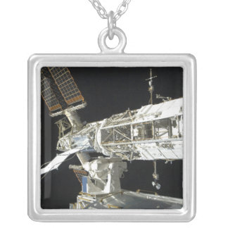 International Space Station 8 Silver Plated Necklace