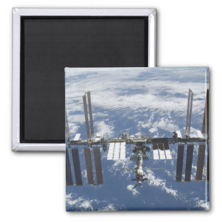 International Space Station in orbit 2 Square Magnet