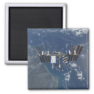 International Space Station in orbit 3 Square Magnet
