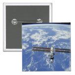 International Space Station orbiting Earth 15 Cm Square Badge