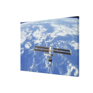 International Space Station orbiting Earth Canvas Print