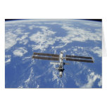 International Space Station orbiting Earth Greeting Card