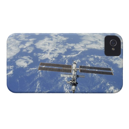 International Space Station orbiting Earth iPhone 4 Cover