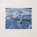 International Space Station orbiting Earth Jigsaw Puzzle