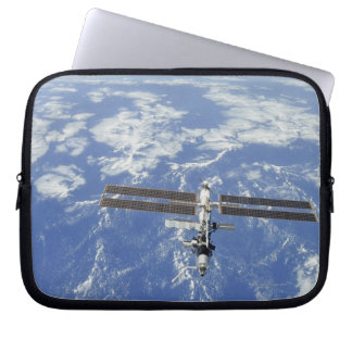 International Space Station orbiting Earth Laptop Sleeve