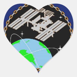 International Space Station Program Logo Heart Sticker