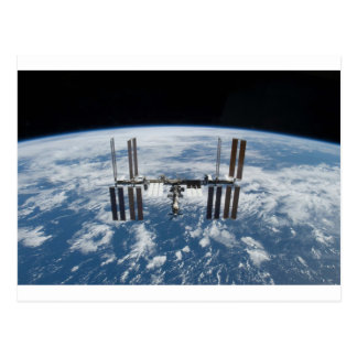 International Space Station -- Seen from Atlantis Postcard