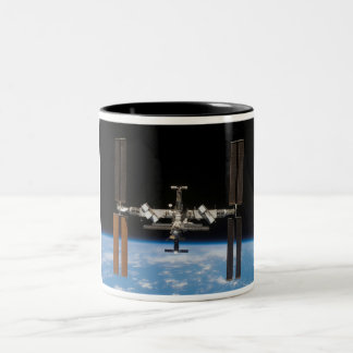 International Space Station -- Seen from Atlantis Two-Tone Coffee Mug