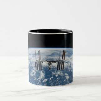 International Space Station -- Seen from Atlantis Two-Tone Coffee Mug