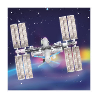 International Space Station Stretched Canvas Print