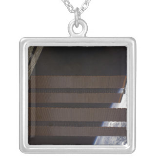 International Space Station's solar array panel Silver Plated Necklace