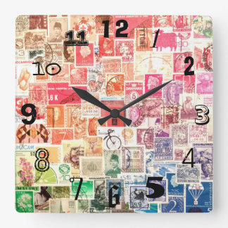 International Stamp Clock (with numbers)