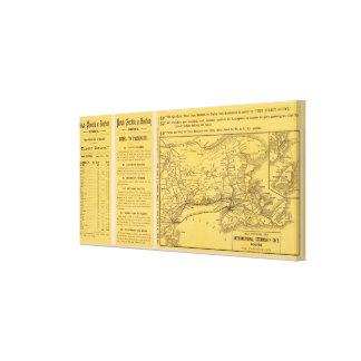 International Steamship Routes, Nova Scotia Canvas Print