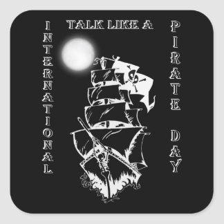 International Talk like a Pirate Day Square Sticker