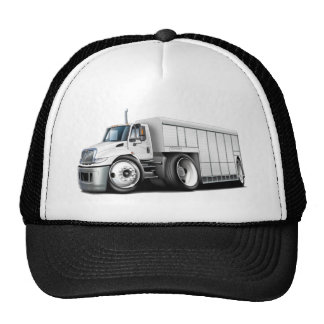 International White Delivery Truck Cap