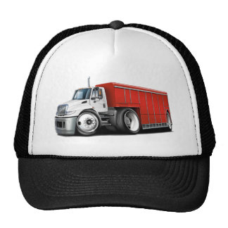International White-Red Delivery Truck Cap