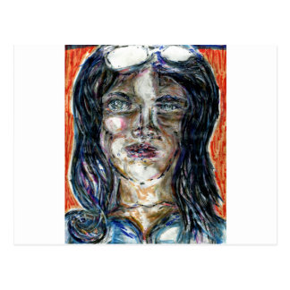 International Woman of Mystery Post Card