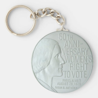 International Women's Day Basic Round Button Key Ring
