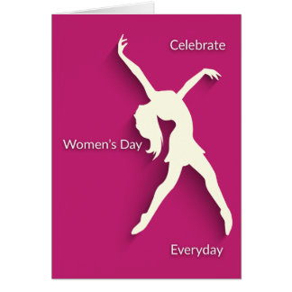 International Women's Day Celebrate Raspberry Card