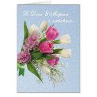 International Women's Day, spring flowers, Russian Card