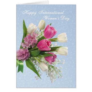 International Women's Day - spring flowres Greeting Card
