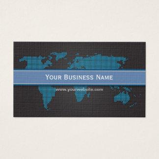 International World Map Dark Business card