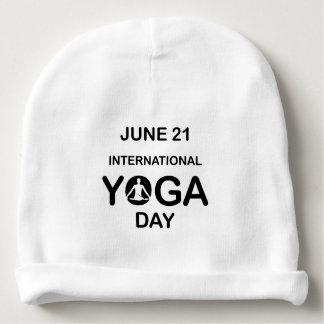 International yoga day june 21 baby beanie