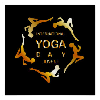 International yoga day june 21 poster