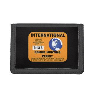 International Zombie Hunting Permit Walking Funny Tri-fold Wallets