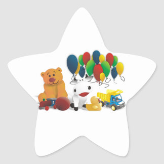 Internationaler Kindertag Star Sticker
