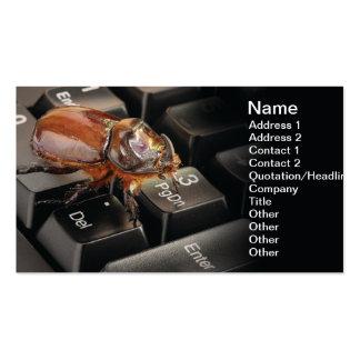 Internet bug business card