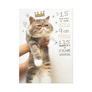 Internet Cat Celeberity Canvas Print