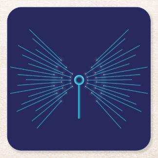 Internet concept. square paper coaster