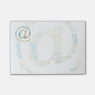 Internet Email Typed Text Symbol | Geek Gifts Post-it Notes