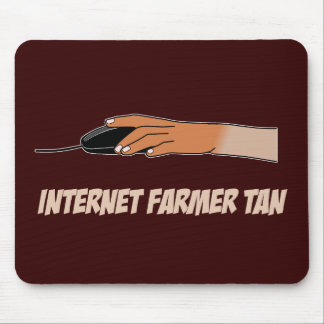 Internet Farmer Tan Mouse Mat