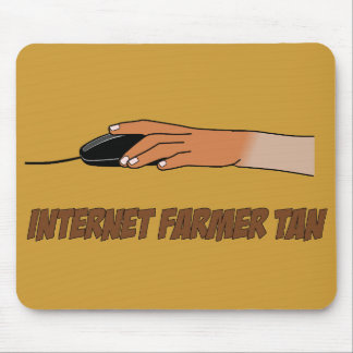 Internet Farmer Tan Mouse Mat