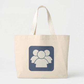 Internet Forum Icon Tote Bags