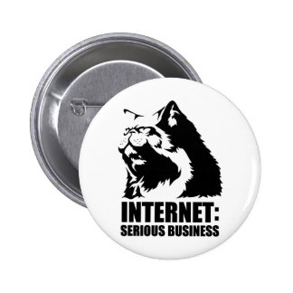 Internet: Serious Business (lolcat funny tshirt) 6 Cm Round Badge