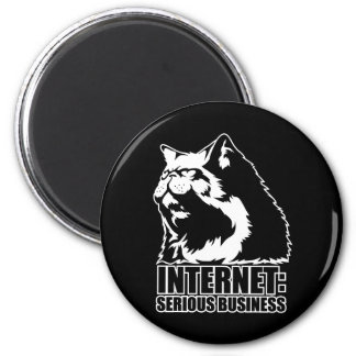 Internet: Serious Business (lolcat funny tshirt) 6 Cm Round Magnet