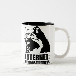 Internet: Serious Business (lolcat funny tshirt) Two-Tone Coffee Mug