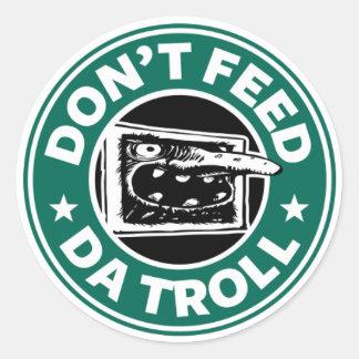 Internet Troll Round Small Sticker