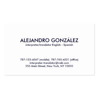 Spanish Business Cards Spanish Business Card Designs