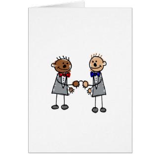 Interracial Gay Couple Card