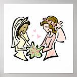 Interracial Lesbian Lovers Poster